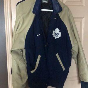 Leather vintage Toronto Maple Leafs jacket